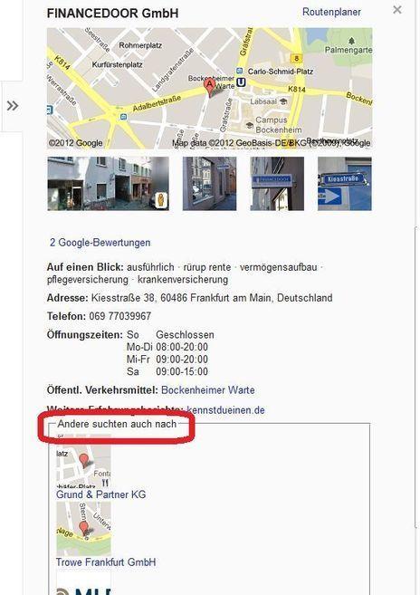 Verwandte Suchvorschläge in der Google Preview Sidebar   Lokale Suche News   Scoop.it