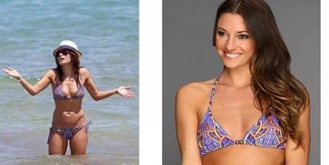 Sarah Shahi al mare con bikini e cappello di paglia - Sfilate | fashion and runway - sfilate e moda | Scoop.it