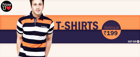 Men's t-shirt starting at Rs. 199 | Yebhi.com | DealzExplorer.com | Online Shopping Tips | Scoop.it