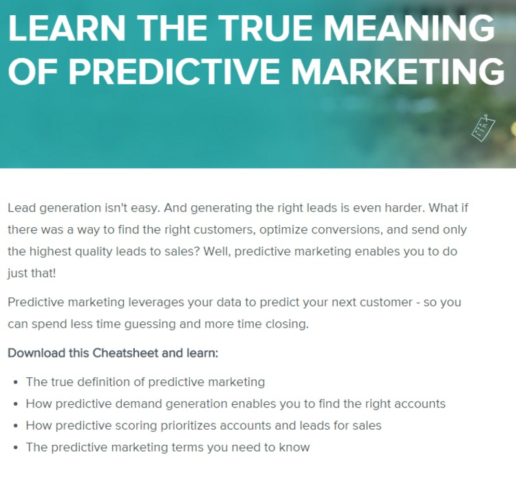 [FREE] Predictive Marketing Cheatsheet and Glossary - Everstring | The Marketing Technology Alert | Scoop.it