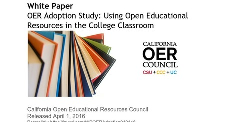White Paper: OER Adoption Study (April 1 2016) | Opening up education | Scoop.it