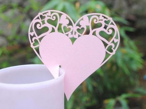 Bordkort Hjerte Pink - Prinsessens Bryllup | Bordpynt Til Bryllup, Invitationer Til Bryllup | Scoop.it