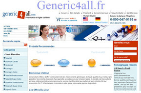 Achetez vos médicaments sur Generic4al | Achetez vos médicaments sur Generic4all | Scoop.it
