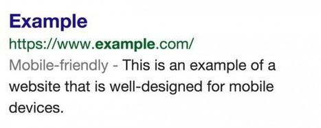 """""""Mobile-Friendly"""": Google markiert mobiloptimierte Seiten in den Suchergebnissen   E-Labs   Scoop.it"""