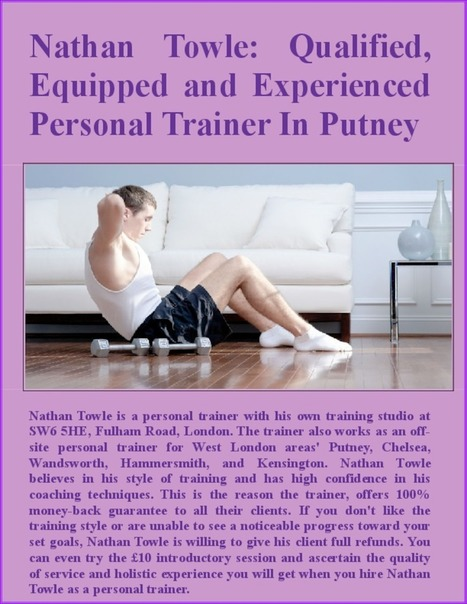 Qualified, Equipped and Experienced  Personal Trainer In Putney - PdfSR.com   Personal Training  in South East London   Scoop.it
