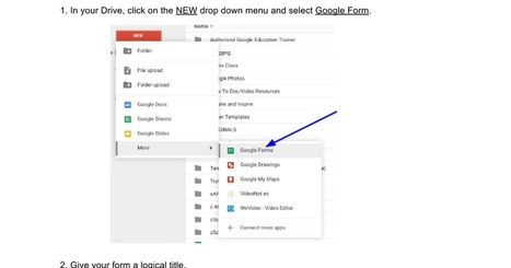 How to Create a Google Form - to share | Moodle and Web 2.0 | Scoop.it