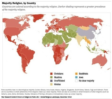 The Global Religious Landscape - Pew Forum on Religion & Public Life | Garinger APHUGE | Scoop.it