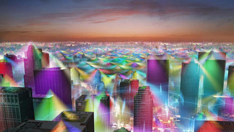 How The World Would Look If We Could See All The Radiation From Our Cell Phones | access control systems | Scoop.it