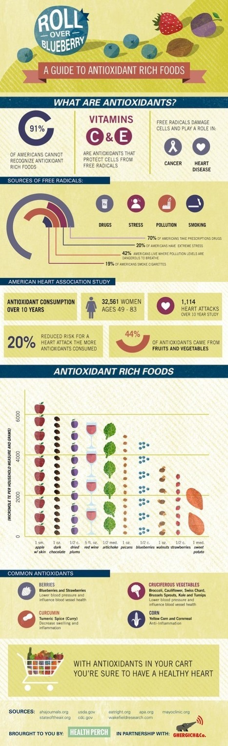 An Illustrated Guide To Antioxidant Rich Foods | Allergy shots | Scoop.it
