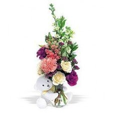 Bear Hug With White Roses | Amour Flowers | Scoop.it