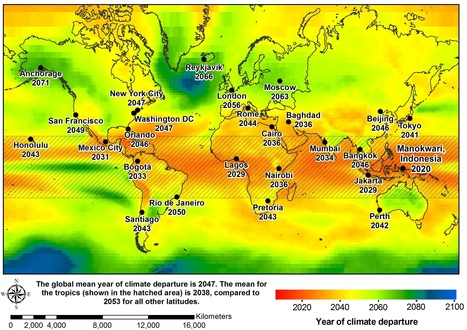 The Year of Climate Departure for World Cities | Complex World | Scoop.it