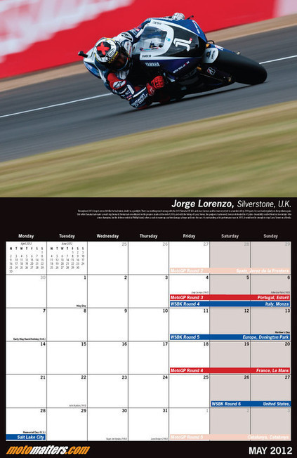 The Perfect Gift - The MotoMatters.com 2012 Motorcycle Racing Calendar | Ductalk Ducati News | Scoop.it