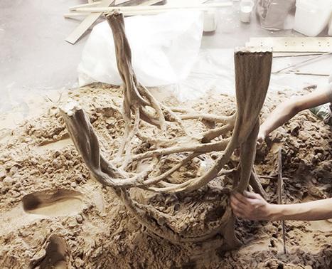 bartlett school studio explores structural potential of sand + PVA pipes - designboom | architecture & design magazine | digital visions | Scoop.it