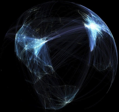 Global flight paths | Geography Education | following geography education | Scoop.it