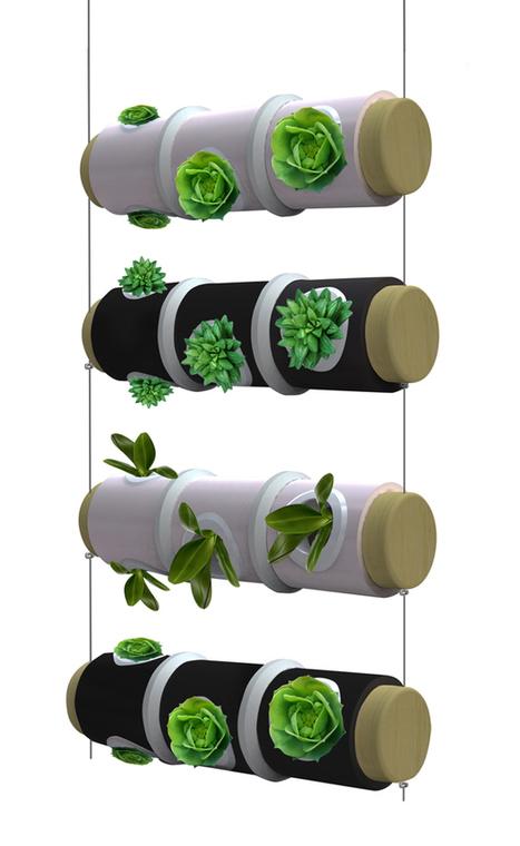 Hanging Kitchen Herb Garden Doubles as Light Fixture | Urban Gardens | Garden Grunt | Scoop.it