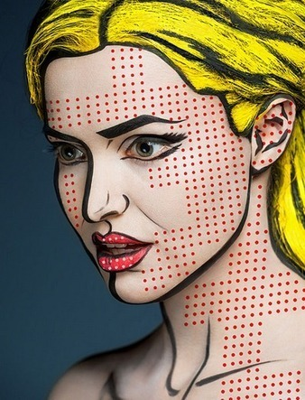 Russian Makeup Artist Turns 20 Model Faces into Optical Illusions | Strange days indeed... | Scoop.it