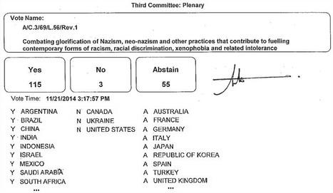 AG ONU : Lutte contre la glorification du nazisme. BRICS POUR, USA Canada Ukraine CONTRE, UE s'abstient | HUMAN RIGHTS ? | Scoop.it