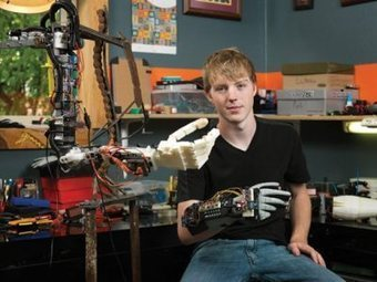 Teen Creates 3D Printed, Brain-Powered Prosthetic Arm | FabLab today | Scoop.it