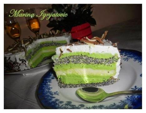 #recept  After eight sa makom ili Zelena torta sa makom | Recepti i kuhinja za pocetnike [ kao ja] | Scoop.it