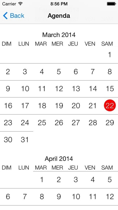 CalendarStyle for iOS - Cocoa Controls | iWorld | Scoop.it