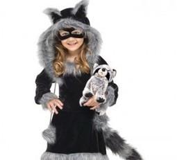 Girls Sweet Raccoon Costume | Raccoons | Scoop.it