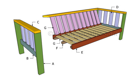 Outdoor sofa plans | HowToSpecialist - How to Build, Step by Step DIY Plans | Home Repair | Scoop.it