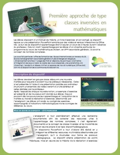 Première approche de type classes inversées en mathématiques | L'eVeille | Scoop.it