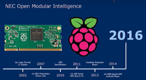 Raspberry Pi Compute Module 3 to be launched by the end of the year, used in NEC displays | Embedded Systems News | Scoop.it