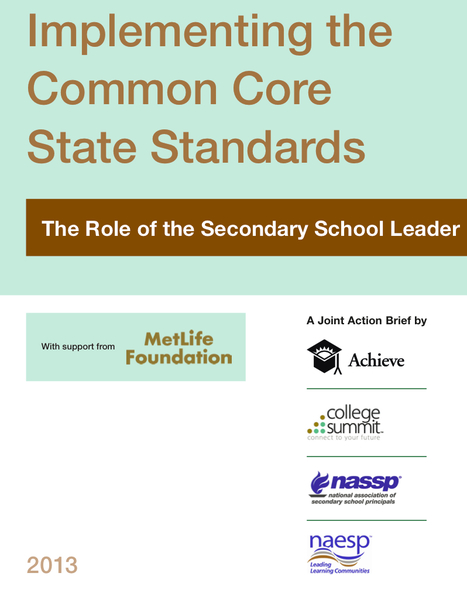 Implementing the CCSS: The Role of the School Leader | Common Core State Standards for School Leaders | Scoop.it