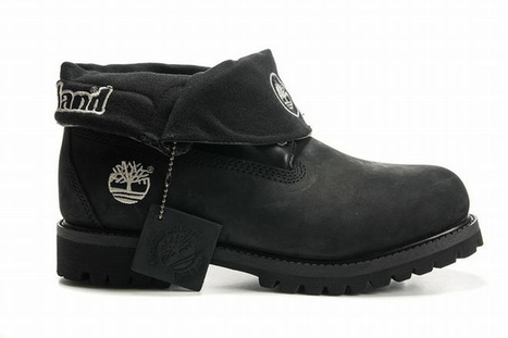 timberland roll top mens boots whole black | want and share | Scoop.it