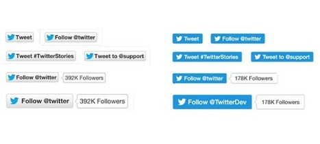 Twitter lance un nouveau design pour ses boutons Follow et Tweet | 3.0 GeeK4Pro | Scoop.it