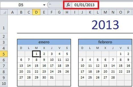 Varios formatos de calendarios para el 2013 en una hoja de Excel | Recull diari | Scoop.it