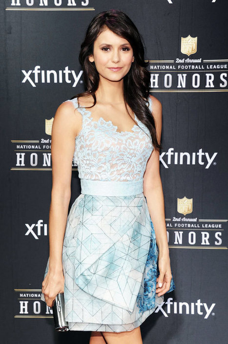 Nina Dobrev in Zuhair Murad at the 2nd Annual NFL Honors | Stylish Fashion | Scoop.it