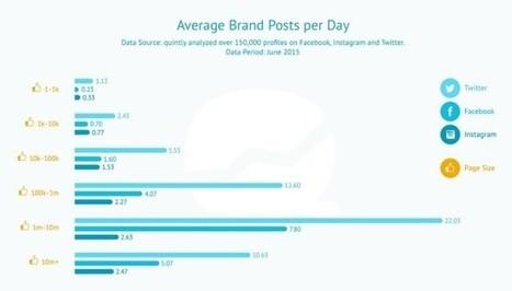 Étude : l'engagement selon les réseaux sociaux et la taille des pages et profils | Facebook Pages | Scoop.it