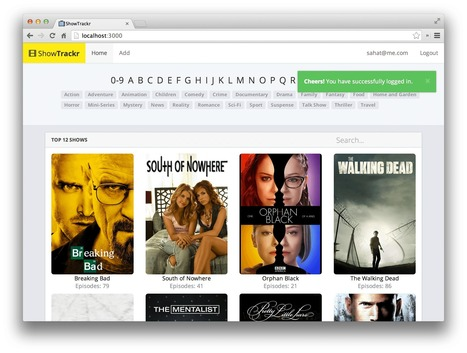 Create a TV Show Tracker using AngularJS, Node.js and MongoDB | Java&FrontEnd | Scoop.it