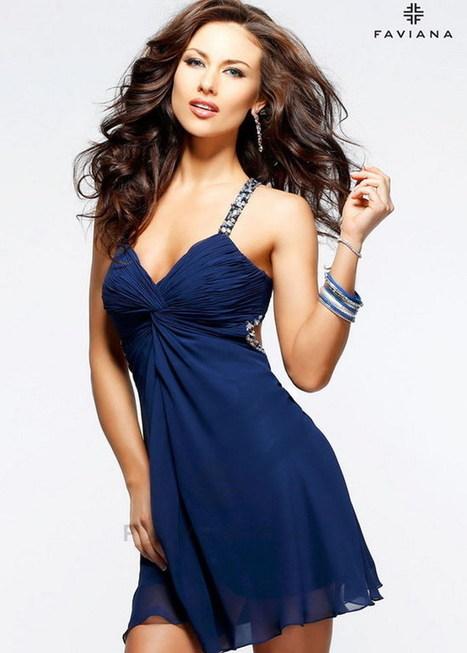 2014 Navy Faviana 7212 Beaded Homecoming Short Dress [Beaded Homecoming Short Dress] - $169.00 : Prom Dresses 2014, Homecoming Dresses 2014 | Sexy | Scoop.it