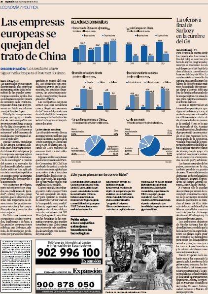 Las empresas europeas se quejan del trato de China,Empresas y Finanzas. Expansión.com | aTICser | Scoop.it