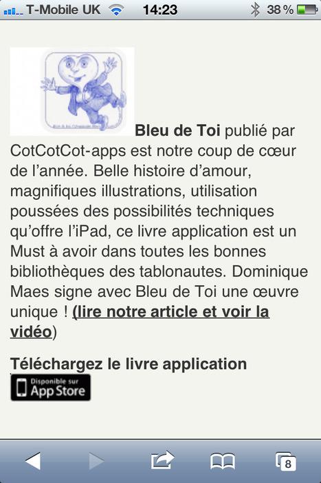 Best Of 2012 des meilleures applications et livres numériques enfants   IDBOOX   Must Read articles: Apps and eBooks for kids   Scoop.it