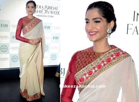 Sonam Kapoor in Bengali Saree at India Bridal Fashion Week | Indian Fashion Updates | Scoop.it