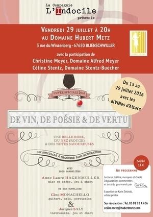 De Vin, de Poésie et de Vertu : la Compagnie L'Indocile fait halte au Domaine Hubert Metz ! @Vinexplore | Vos Clés de la Cave | Scoop.it