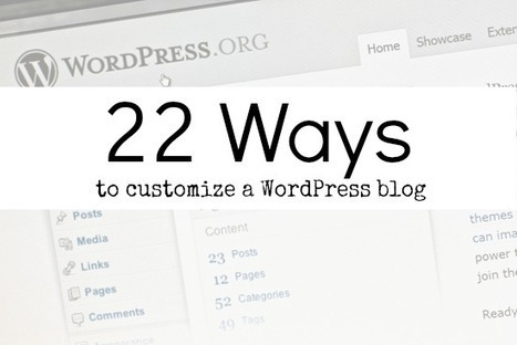 22 Ideas to Help Your WordPress Website Look Customized and Professional | Links sobre Marketing, SEO y Social Media | Scoop.it