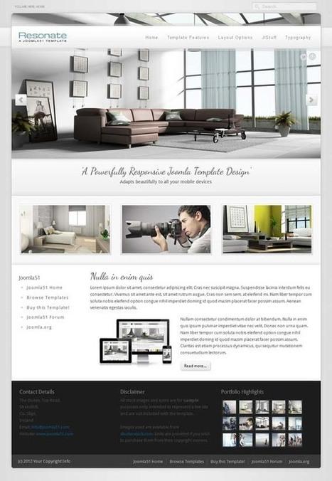 J51 Resonate, Joomla Architecture Furniture Template | Premium Download | Premium Joomla Templates Download | Scoop.it
