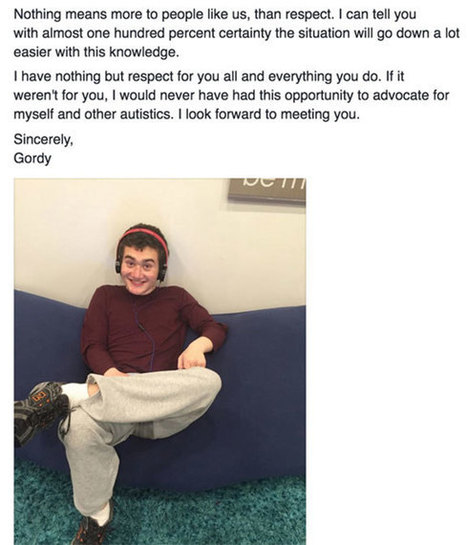 This non-speaking teen wrote an incredibly profound letter explaining autism - Lifestyle - NZ Herald News | LD | Scoop.it