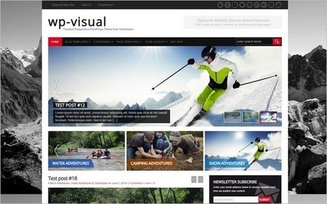 WP-Visual - A New Eye-catching WordPress Theme by SoloStream | Becoming a Digital Business | Scoop.it
