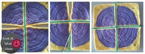 """How to Join Crochet Squares - Completely Flat """"Zipper"""" Method - Look At What I Made 