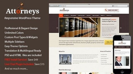 Attorneys – An Elegant WordPress Theme for a Law Company | Free & Premium WordPress Themes | Scoop.it