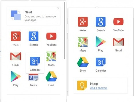 Google : Personnaliser le menu de navigation par drag & drop | netnavig | Scoop.it