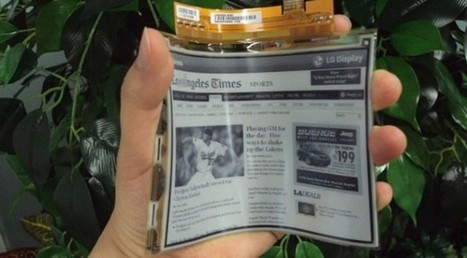 LG begins mass production of first flexible, plastic e-ink displays | Technoculture | Scoop.it