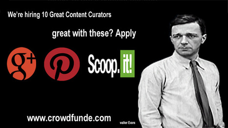 Know How To Design & Curate Information? CrowdFunde is Hiring! | Design Revolution | Scoop.it
