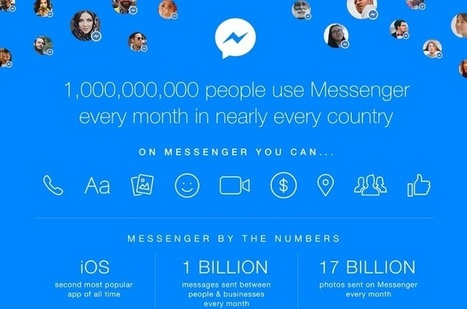 Facebook Messenger fête son premier Milliard d'utilisateurs mensuels | Mon Community Management | Scoop.it